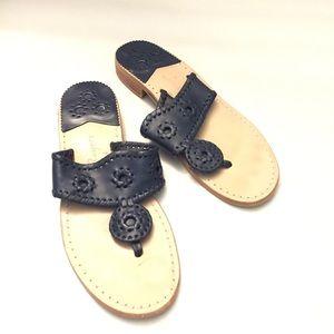 Jack Rogers navy blue sandals women's 8